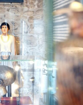 Carian Princess' tomb, gold jewelry in her new hall at Newly Restored Bodrum Castle