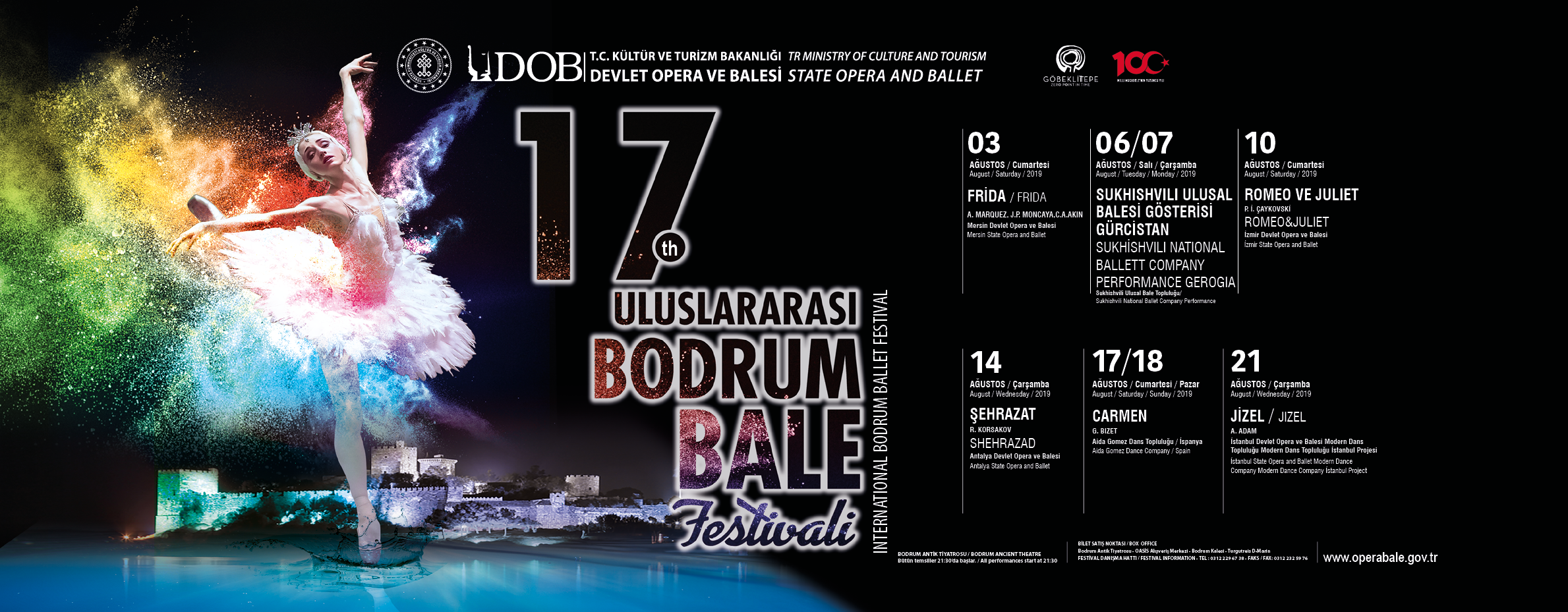 Bodrum International  Ballet Festival Program 2019